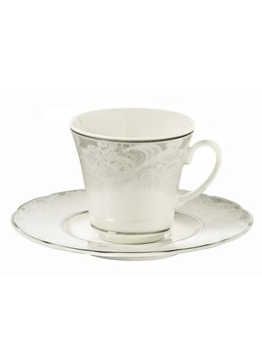 Kütahya Porselen Bone Olympos 9287 Desen Çay Fincan Takımı Renkli